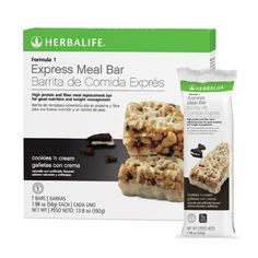 Herbalife Formula 1 Express Meal Bar - Cookies 'n Cream - Healthy Products Library Herbalife Meal Replacement, Meal Replacement Bars, Herbalife Recipes, Herbalife Nutrition, Herbalife Products, Herbalife Shake, Healthy Cookies, Yummy Cookies, Bar Cookies