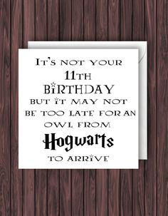 Hogwarts Letter. Harry Potter Birthday Card. Geek Blank Card. Funny Greetings Card. by TheDandyLionDesigns on Etsy https://www.etsy.com/uk/listing/231537746/hogwarts-letter-harry-potter-birthday