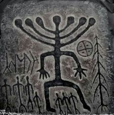 This petroglyph from Siberia is dated to around 5000 BCE.
