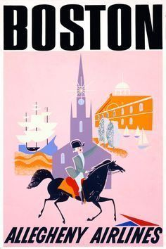 13 Classic Airline Posters That Lured Brave Flyers to Boston - Curbed Boston