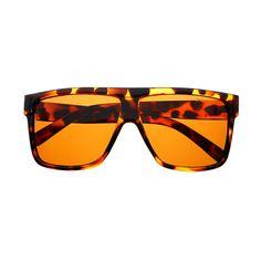 Premium Polarized Lens Large Square Aviator Flat Top Sunglasses Shades FT63