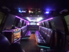 Inside the White Escalade Limo in Fort Lauderdale