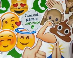 Plaquinhas Divertida Emoticons