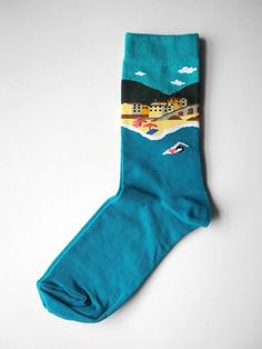 Italian Coastline sock FEAT. sock co. www.featsockco.com #featsockco #fashionsocks