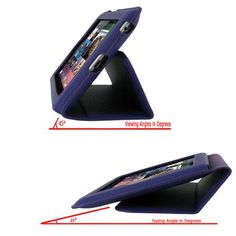 Ultra-Slim Vegan Leather Folio Case Cover for Google Nexus 7 Tablet - Purple