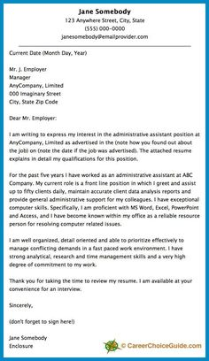 here is a cover letter sample to give you some ideas and inspiration for writing your - Sample Cover Letter For Resume