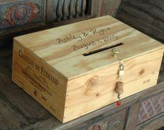 Rustic Wedding Keepsake Box Personalised Handmade Crate Storage Card