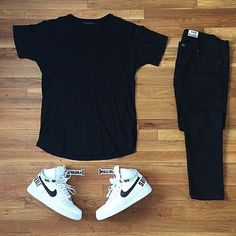 For fans of urban fashion , the hats which they wear, they become part of freedom expression in dressing. Fans of urban fashion , especially Dope Outfits, Swag Outfits, Casual Outfits, Men Casual, Fashion Outfits, Nike Fashion, Womens Fashion, Mein Style, Outfit Grid