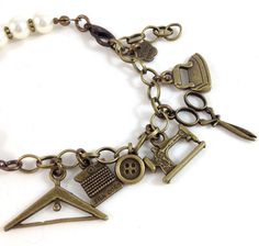 sewing bracelet sewer gift tailors bracelet tailors by OwlNest