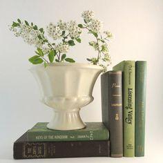 Vintage Urn Planter Haeger USA Pottery White Glaze