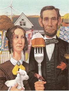 "The Lincolns as ""American Gothic"""