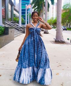 Day Dresses, Nice Dresses, Casual Dresses, Latest Dress For Women, Tie Dye Maxi, Blue Tie Dye, Dress Collection, Fit And Flare, Dress To Impress