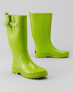 Fun rain boots are a must have for puddle jumping.