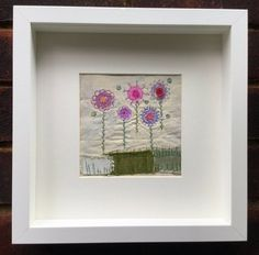 Stitched flowers by JackieBicknellArt on Etsy