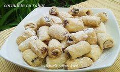diana's cakes love: Cornulete cu rahat - aluat cu ulei Pretzel Bites, Cereal, Deserts, Breakfast, Diana, Food, Holiday, Romanian Recipes, Morning Coffee