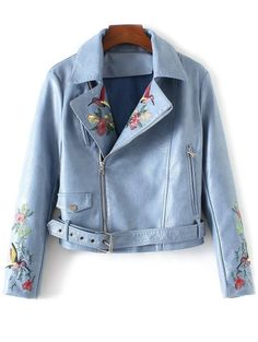 SHARE & Get it FREE | Embroidered Lapel Collar Faux Leather JacketFor Fashion Lovers only:80,000+ Items • New Arrivals Daily Join Zaful: Get YOUR $50 NOW!