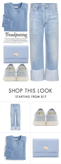"""""""Blue dream"""" by theapapa ❤ liked on Polyvore featuring Citizens of Humanity, adidas Originals, Blair, Dolce&Gabbana and Melissa"""