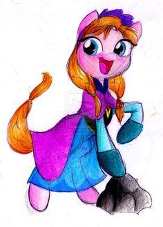 Princess Anna Pony by knuFaD-zzaJ on deviantART