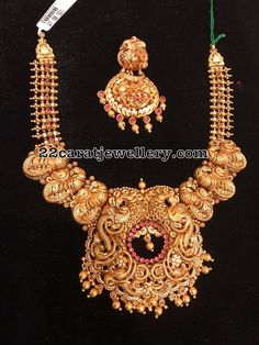 90 Grams Grand Antique Peacock Set - Jewellery Designs