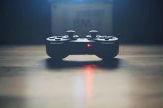 weapons gamer * Pawel Kadysz, fight, gadget, gamer, game, manipulation, simulation, blue, dark, management, black.