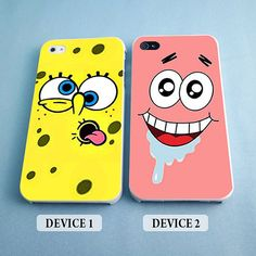 Spongebob and Patrick Funny Face Couples Phone Case by ohcouples, $27.00