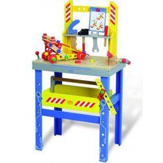 Vilac Grande Banco da Lavoro Giocattolo in Legno per Bambini