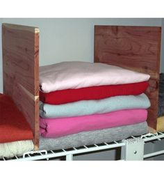 Keep Your Clothes Neatly Organized On Your Wire Closet Shelves With This  Set Of Two Cedar