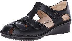 Finn Comfort Women's Funen Black Nappa Leather Sandal 8 (UK Women's 5.5) Medium *** Find out more about the great product at the image link.