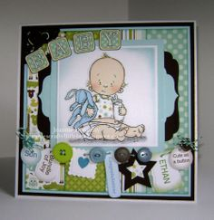 New Baby Boy - Another outing for this darling digi from #Mo Manning…