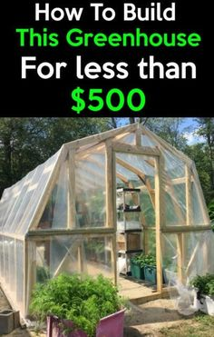 How to build this Greenhouse for under 500 How to get cheap material and build yours now and save money you can get an early start on your planting season or extend your. Outdoor Greenhouse, Cheap Greenhouse, Portable Greenhouse, Greenhouse Interiors, Greenhouse Effect, Backyard Greenhouse, Greenhouse Growing, Greenhouse Plans, Homemade Greenhouse