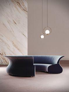 ECLIPSE | Curved sofa By Desforma Furniture Logo, Cheap Furniture, Modern Furniture, Furniture Design, Bedroom Furniture, Corner Sofa Living Room, Living Rooms, Wooden Sofa Set Designs, Types Of Sofas