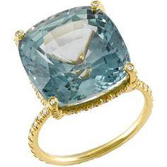 Vera Wang Twist Wire Sapphire Ring.