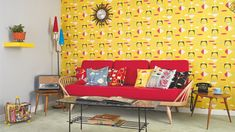 The BBC's Homes & Antiques magazine made a 1950s living room at London's Royal Festival Hall, as part of the Southbank Centre's 60th anniversary celebrations of the Festival of Britain. The room was  on display in the Museum of 51 at the Royal Festival Hall. With its bright colours and abstract, atomic-inspired patterns by designers who made their name at the original festival.