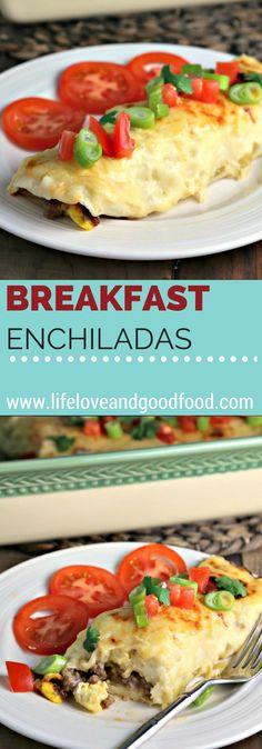 Breakfast Enchiladas | Life, Love, and Good Food #casserole #recipe
