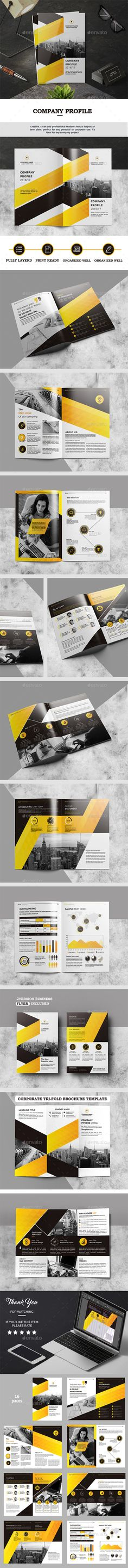 Company Profile — InDesign INDD #light #business • Download ➝ https://graphicriver.net/item/company-profile/19188377?ref=pxcr