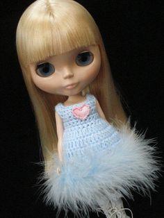 pdf pattern Simple crochet dress for Blythe by polly on Etsy, £2.75