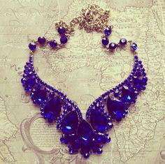 Blue Tiara Necklace...I adore this!!!!!!!!!!!!!!!!!!!!!!!
