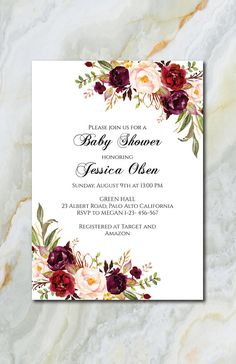 Baby Shower Program Template Burgundy Fan Program Template Fan Wedding Program Ceremony Program .