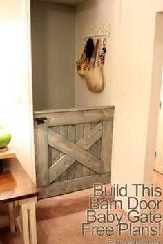 barn door pet or baby gate