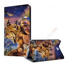 Funda diseño fantasía gato y chica para tu Galaxy Tab 4 de 7 pulgadas
