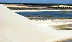 Confira rota alternativa com 12 praias cearenses para quem quer ficar longe da lotação: Praia de Tatajuba, Camocim