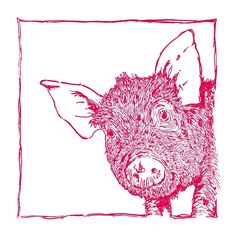 """""""Pig In Space"""" .lino print by Red Boy Prints 2015 © Japanese Illustration, Pattern Illustration, Linocut Prints, Art Prints, Middle School Art Projects, Pig Drawing, Bar Art, Wood Engraving, Art Lesson Plans"""