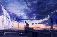 Find images and videos about anime, sky and manga on We Heart It - the app to get lost in what you love. Art Manga, Art Anime, Anime Artwork, Arte Peculiar, Graphisches Design, Anime Scenery, Aesthetic Art, Oeuvre D'art, Fantasy Art