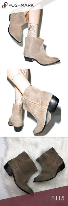 One Teaspoon Suede Le Rebel Ankle Booties So cute and perfect for any season! Sold out everywhere. Size 36 or 6. Excellent pre owned condition. Come with original dust bag. Taupe brown color. No trades!! 012517200def One Teaspoon Shoes Ankle Boots & Booties