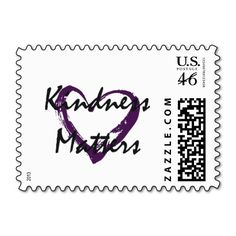 Kindness Matters Heart Postage