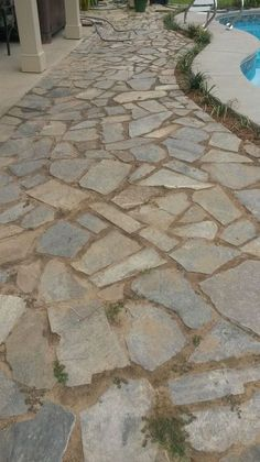 Flagstone Walks   Sand Set U0026 Mortared Patios   Walkways, Patios, Walls U0026  Masonry. DIY Advice | Gardening | Pinterest | Patio Wall, Flagstone And  Walkways