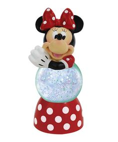 Loving this Sparkle Minnie Mouse Snow Globe on #zulily! #zulilyfinds