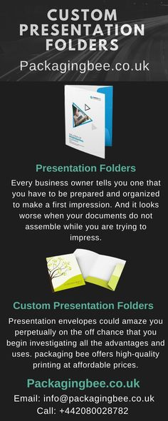 Presentation folders may seem outdated to most of us, but the fact is no matter how fast the technology is advancing, and meetings are being digitized, folders will still have a place in the business world. #customfilefolder #customcheapsfolder #CustomPrinting #WholesalePresentationFolders #WholesaleCustomPresentationFolders #CustomPackagingServices #CustomLogoBoxes #CustomPackaging #CustomPresentationFolders #PresentationFolders Packaging Services, Custom Packaging, Custom Presentation Folders, File Folder, Custom Logos, Cards Against Humanity, Facts, Technology, Business