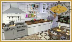 My Kitchen at Dinha Gamer via Sims 4 Updates