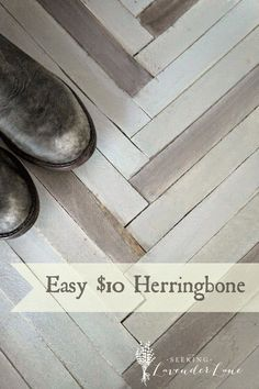 Seeking Lavender Lane: Herringbone DIY for $10